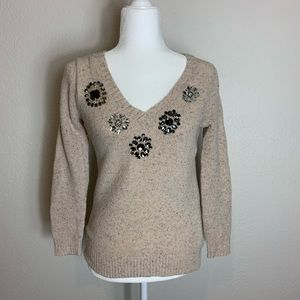 J. Crew Tan V-Neck Sweater